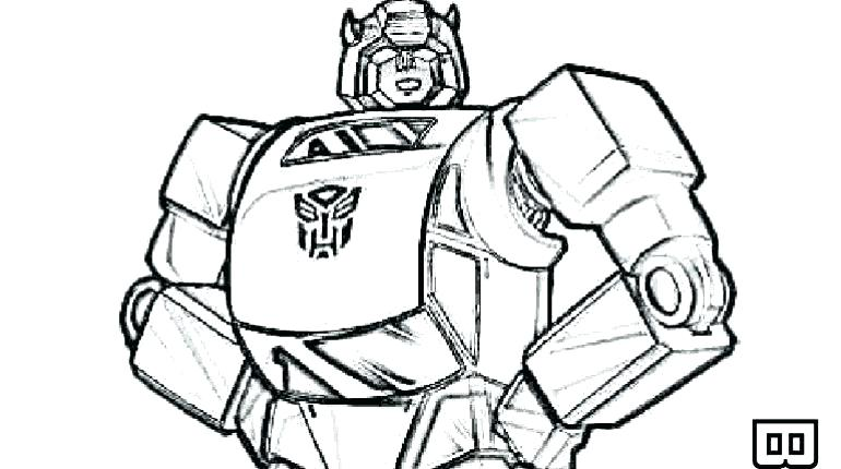 770x430 Transformers Coloring Pages Bumblebee Face Transformer Coloring