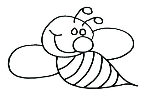 476x333 how to draw a bumble bee bumble bee drawing gallery bumble bee