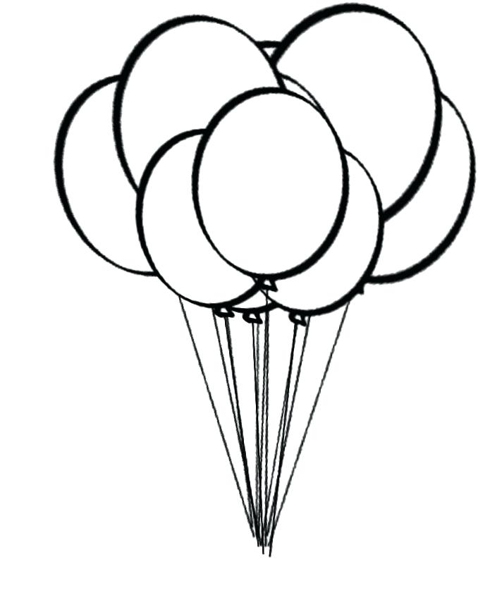 678x874 Balloon Coloring Pages Printable A Bunch Of Balloons