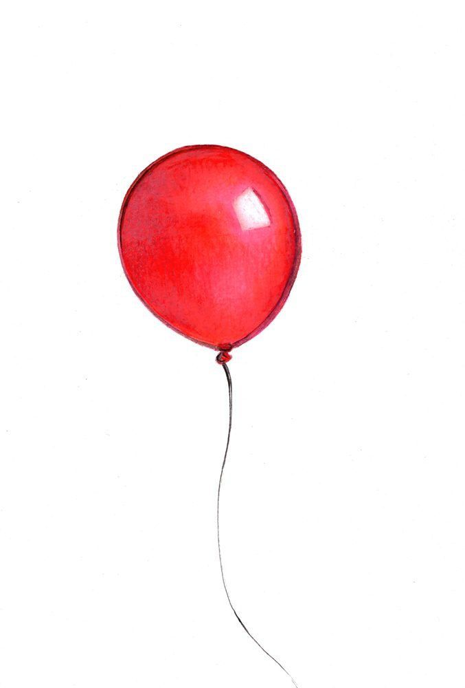 677x1000 Image Result For Bunch Of Balloons Drawing All Grey One Red
