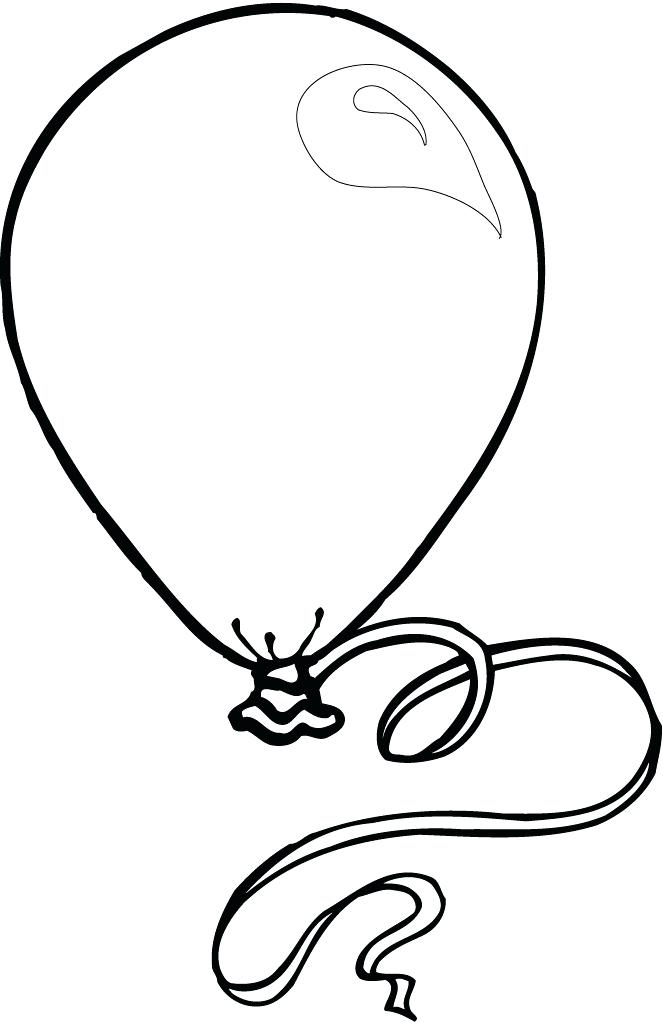 663x1023 Balloon Drawing Colour For Free Download