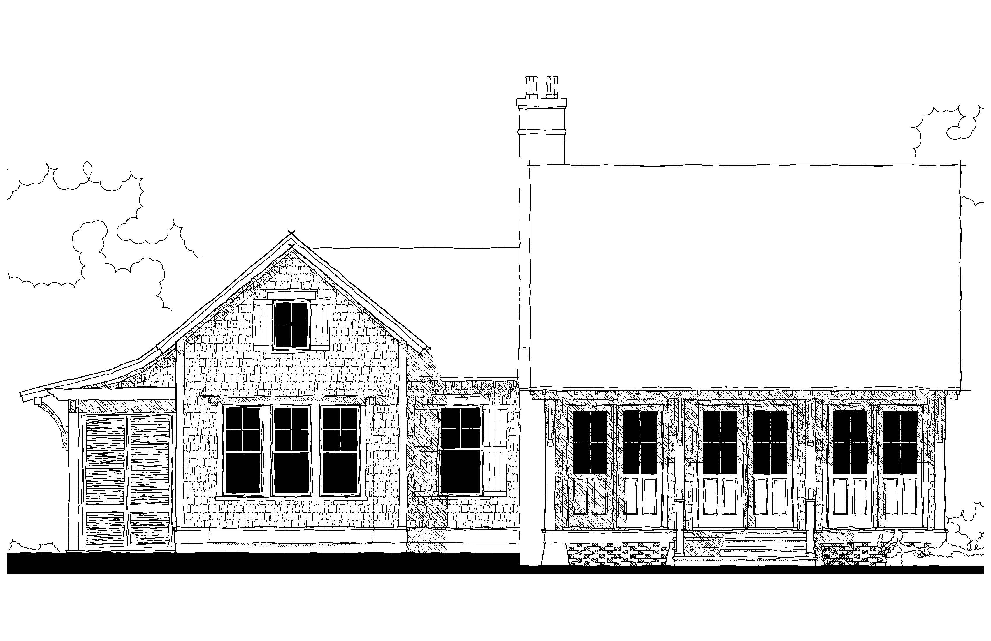 Bungalow Elevation Drawing Free