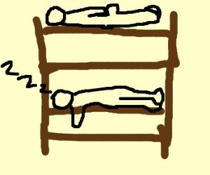 300x250 Bunk Beds Drawing