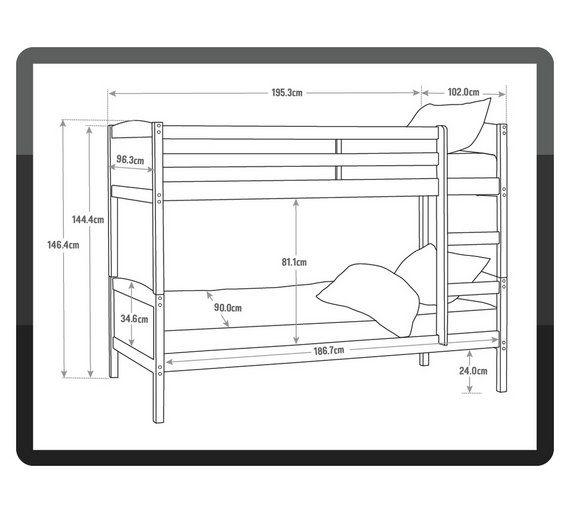 570x513 Buy Home Detachable Single Bunk Bed Frame