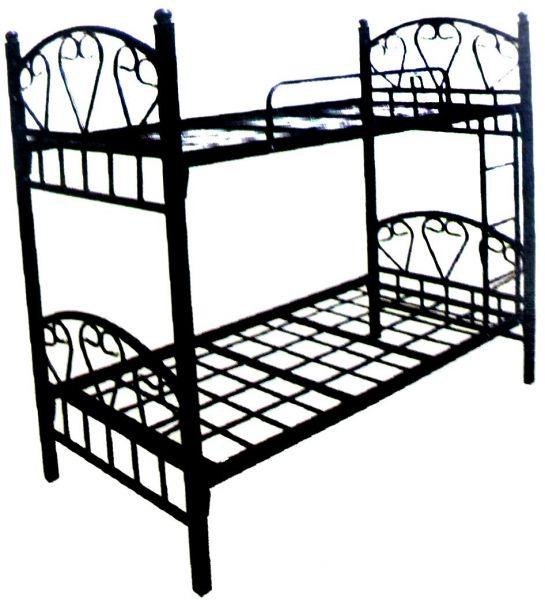 545x600 Detachable Iron Metal Bunk Bed, Black
