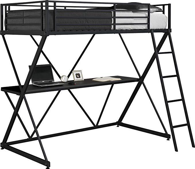 679x589 Dhp X Loft Metal Bunk Bed Frame With Desk