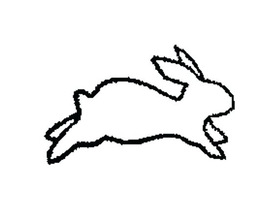 570x428 bunny rabbit outline bunny rabbit drawing in color download bunny
