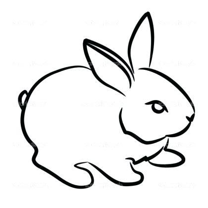 420x420 easy bunny drawings easy bunny drawings to print easy bunny sketch