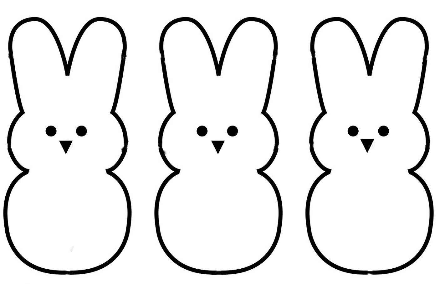 Easter simple. Bunny outline drawing free