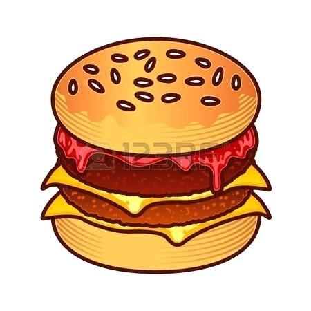 450x450 draw burger final result easy draw burger