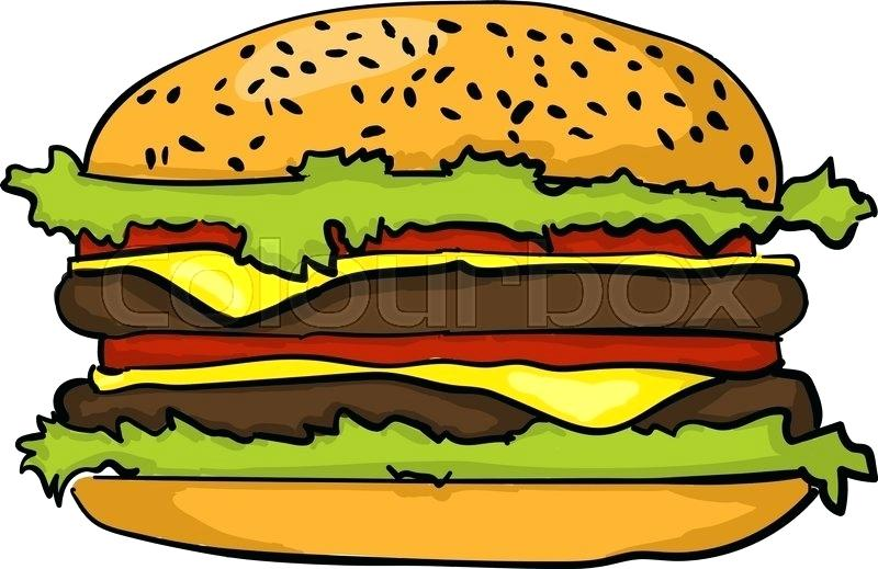 800x519 draw burger hamburger drawing easy draw burger