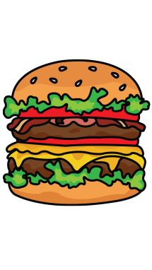 215x382 how to draw a burger step in drawings, burger
