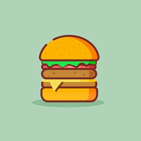 474x474 funny burger vector, burger drawing, burger