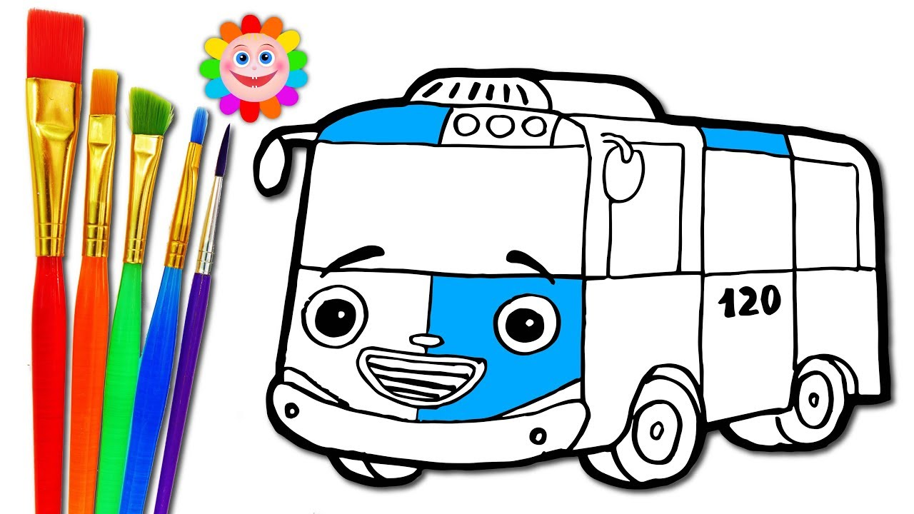 1280x720 Drawing City Bus Coloring Pages