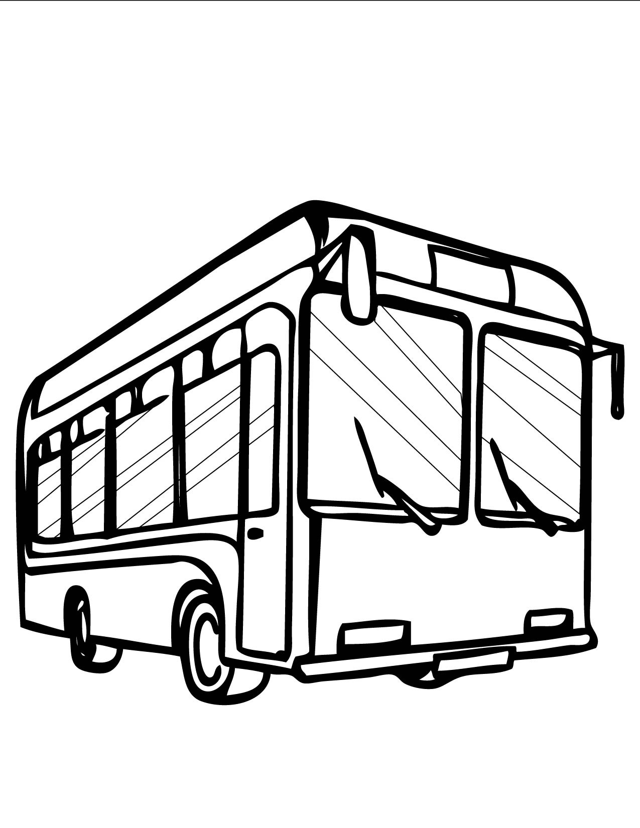 1275x1650 Bus Drawing Cartoon For Free Download