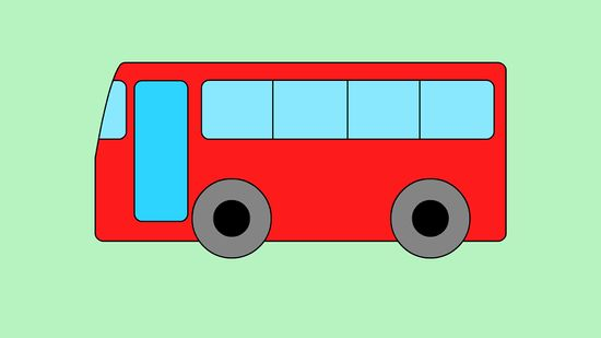 550x309 How To Draw A Bus Steps