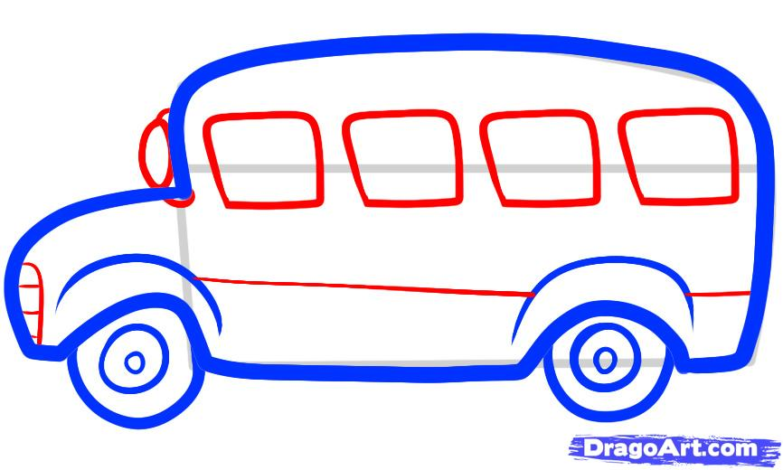 866x520 Best Photos Of Simple School Bus Drawing