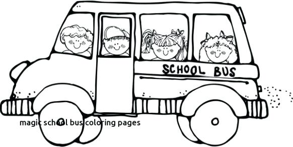 582x292 Template School Bus Coloring