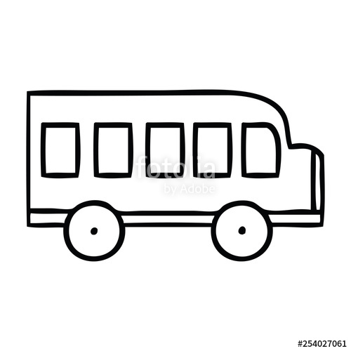 500x500 Line Drawing Cartoon School Bus Stock Image And Royalty Free