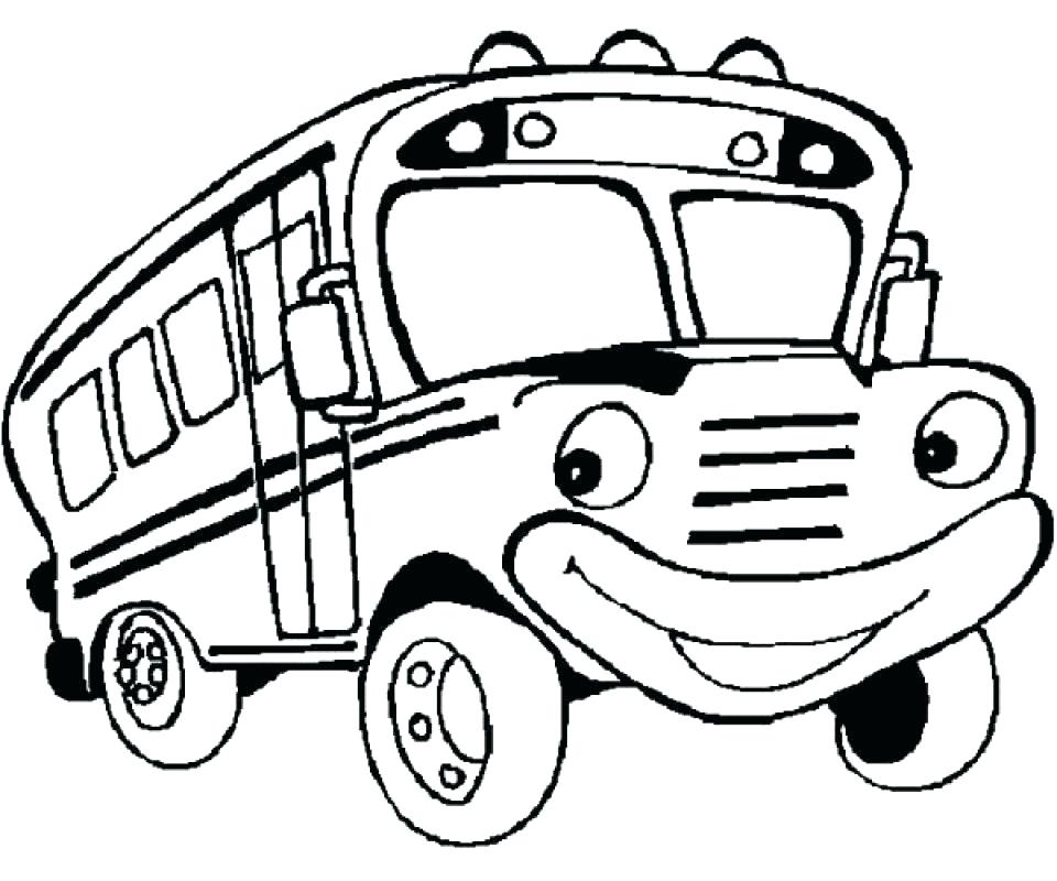 960x800 Cartoon Bus Coloring Pages