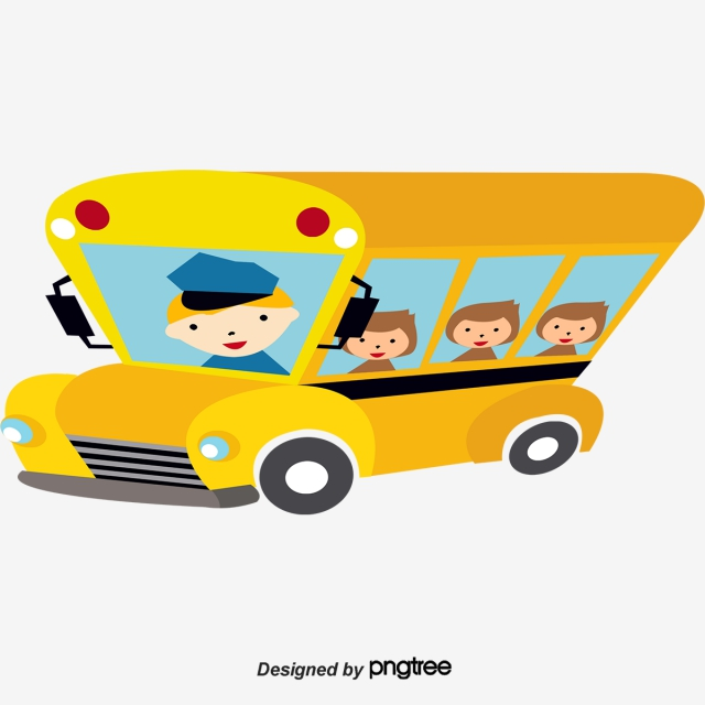 640x640 Cartoon Bus Png, Vectors, And Clipart For Free Download