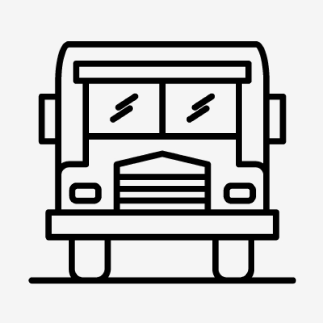 640x640 school bus line black icon, school bus, bus, school png and vector