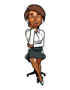 Business Woman Drawing