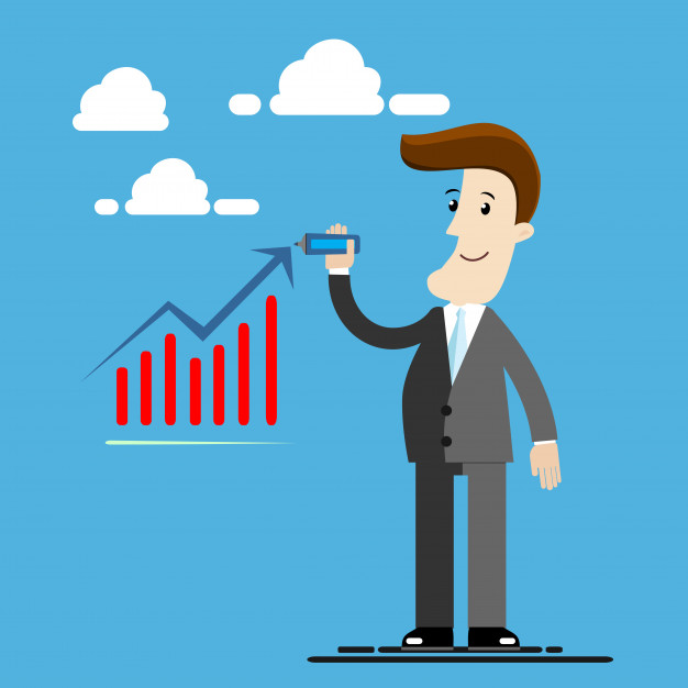 626x626 Businessman Standing And Drawing Up Arrow Business Concept