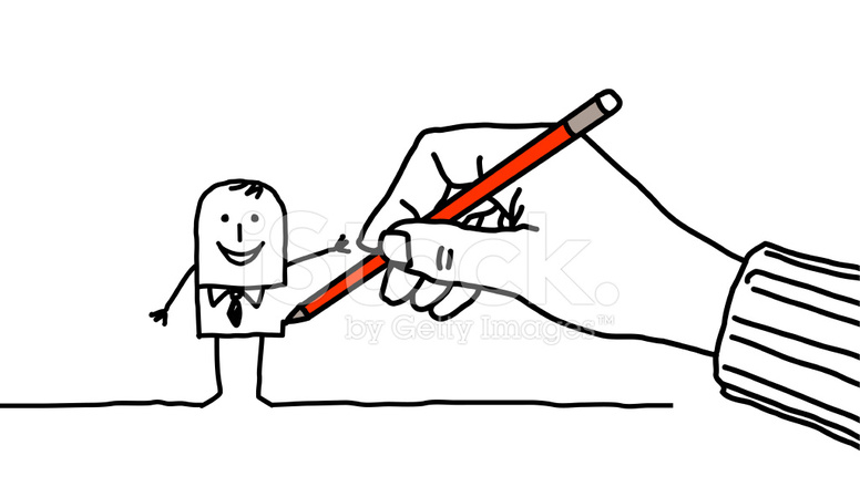 776x440 Drawing Hand Ampamp Businessman Stock Vector