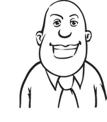 348x399 Whiteboard Drawing Bearded Businessman In Various Emotions