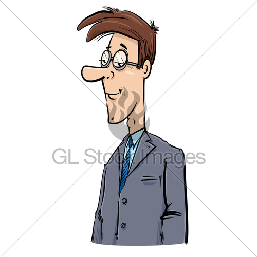 500x500 Young Businessman Caricature Drawing Gl Stock Images