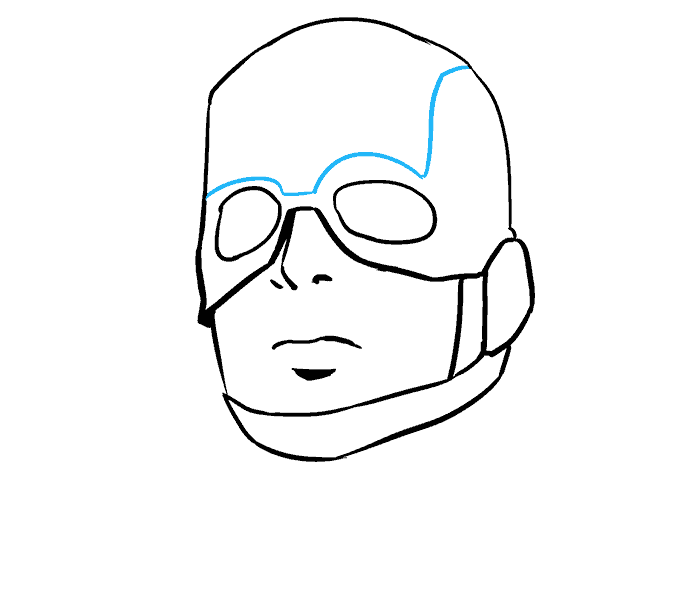 678x600 Collection Of Free Bust Drawing Captain America Download On Ui Ex