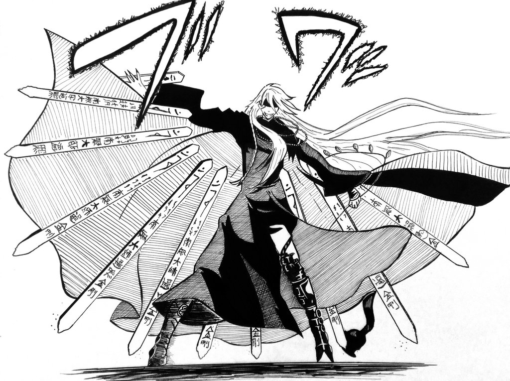 1024x765 crow drawing black butler for free download