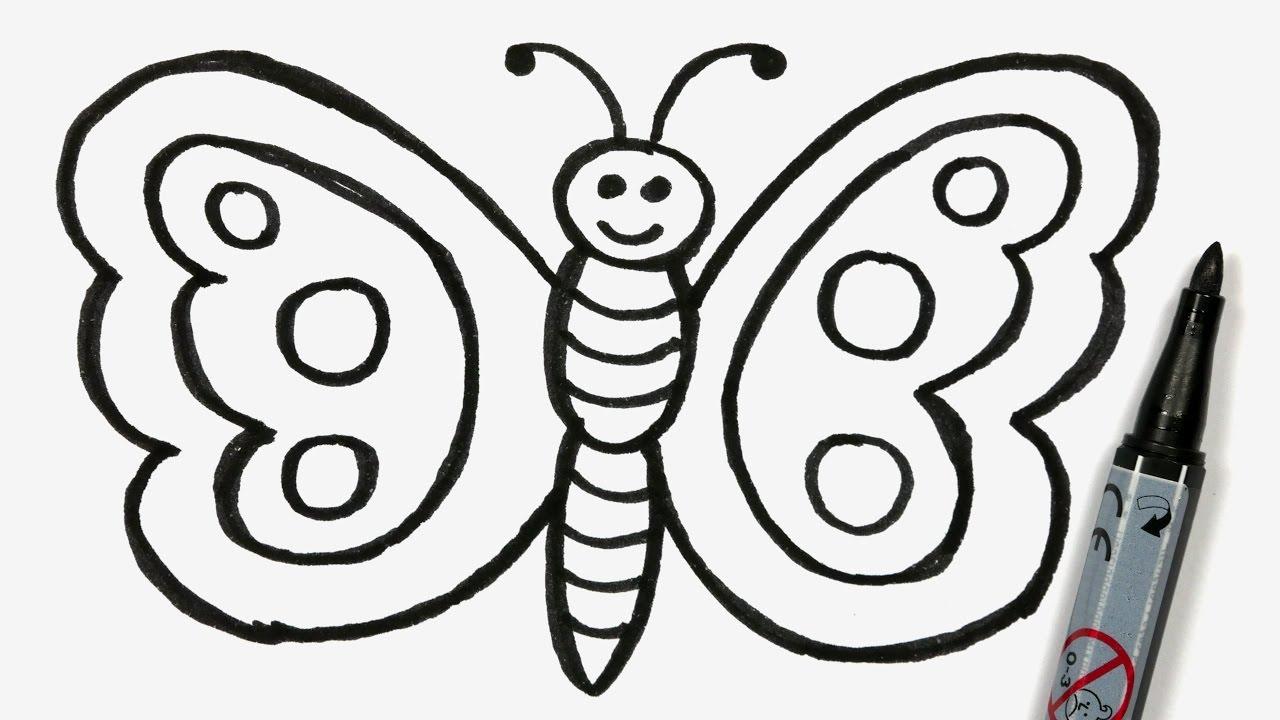 Butterfly cartoon drawing free download best butterfly