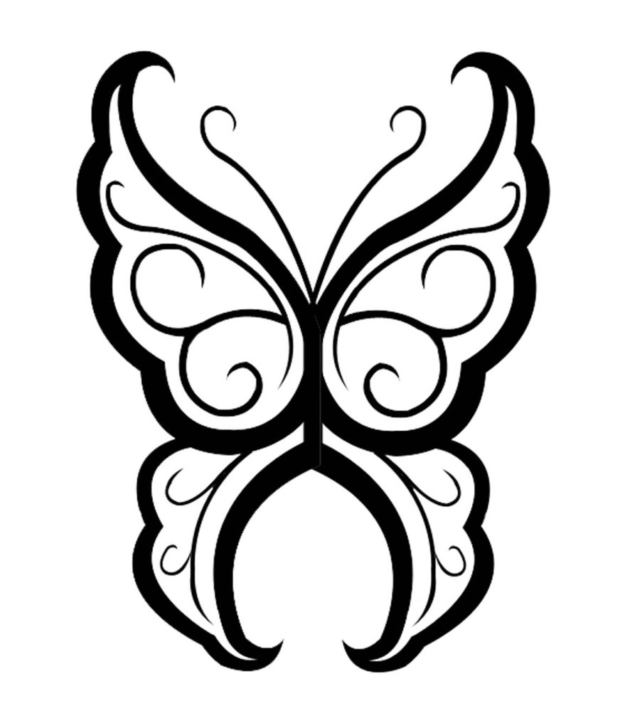 879x1024 Design Drawing Butterfly For Free Download
