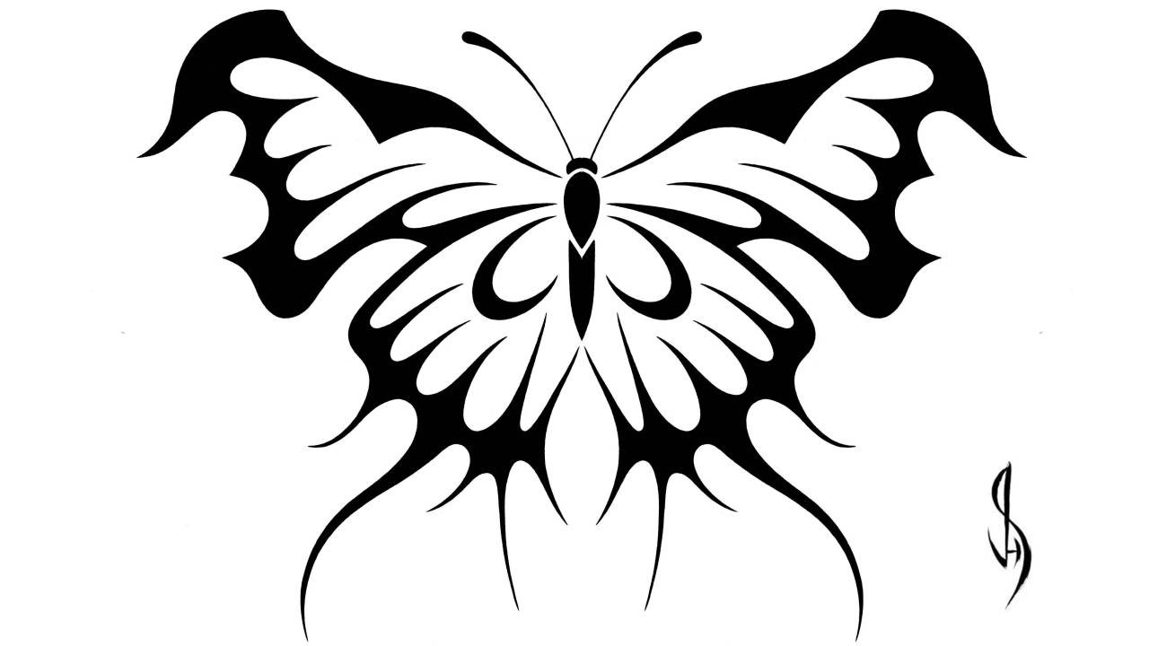 1280x720 Drawing A Butterfly