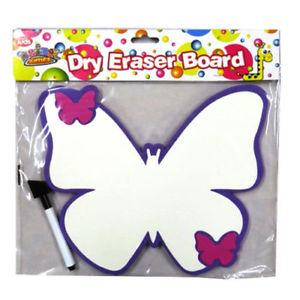 300x300 Kids Wipe Clean White Boards Pen Drawing Creative Fun Butterfly