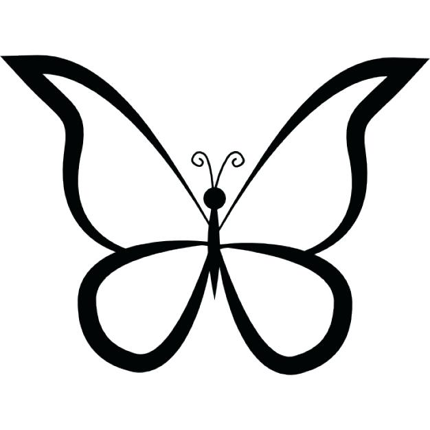 626x626 Outline Butterfly Butterflies Outlines Best Butterfly Tattoo
