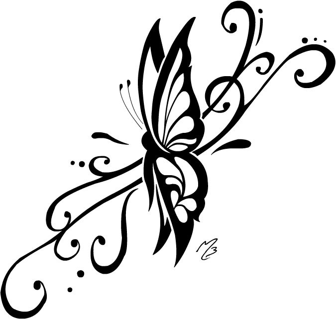 675x641 Tribal Butterfly Drawings Free Download Clip Art