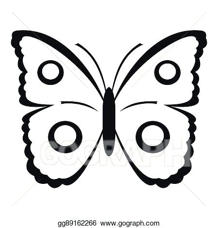 450x470 Simple Drawing Of Butterfly