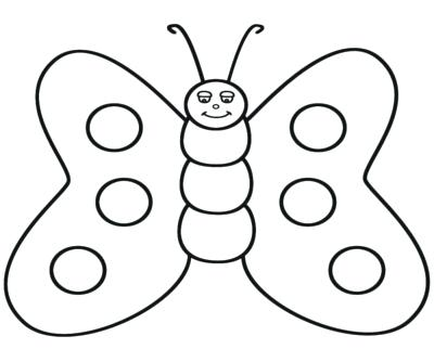 400x322 Butterfly Clip Art Line Drawing