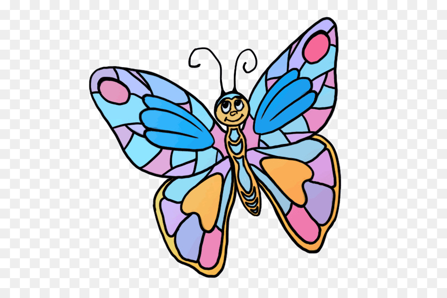 900x600 Drawing, Butterfly, Painting, Transparent Png Image Clipart Free
