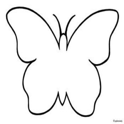 400x400 Butterfly Clipart Black And White Butterfly Drawing Black