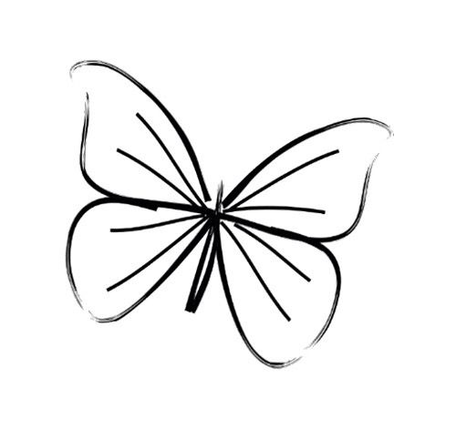 500x482 butterfly just cause! simple butterfly tattoo, butterfly
