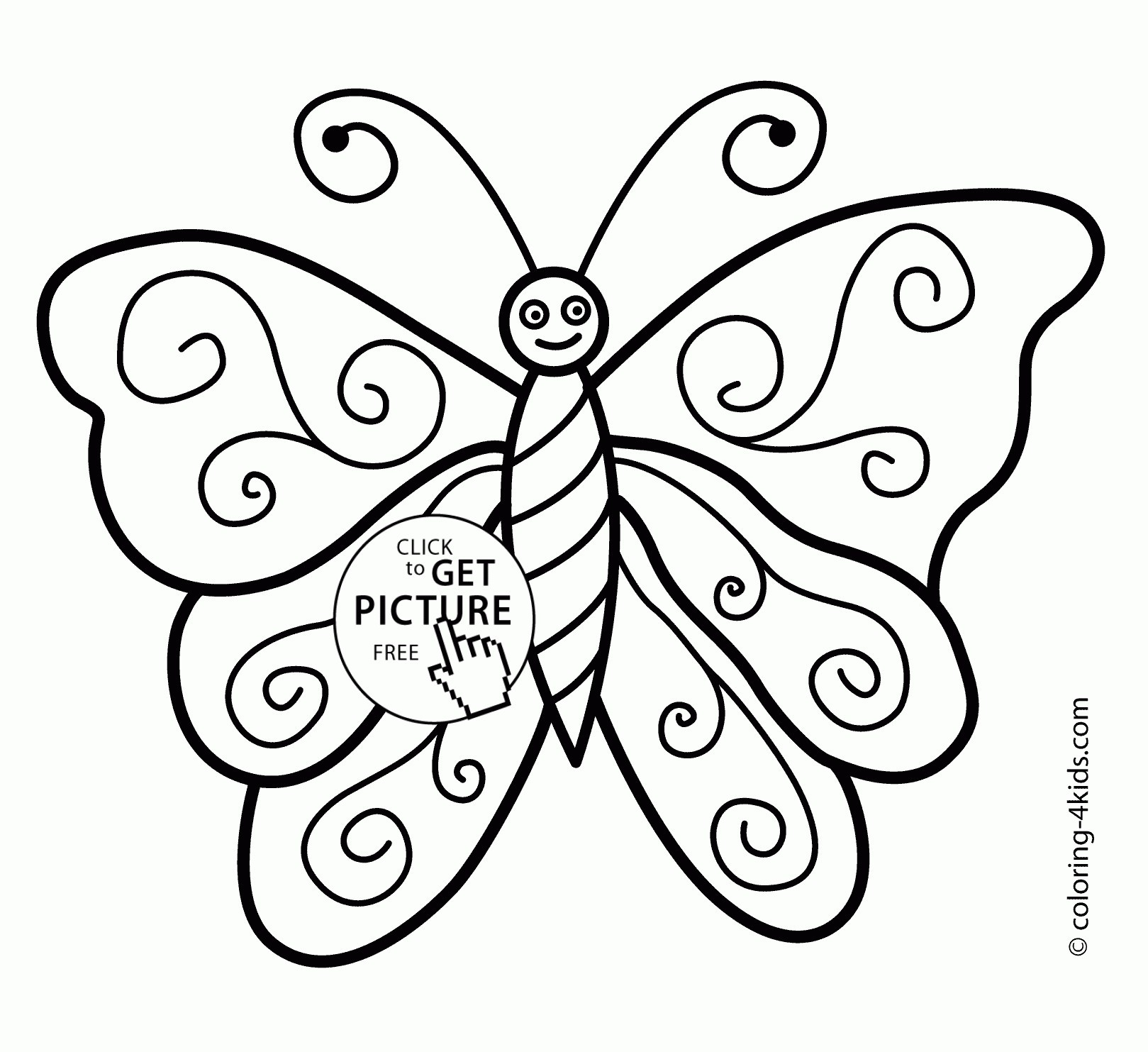 1619x1483 Butterfly Drawings Simple With Color Pink Black And White To Print