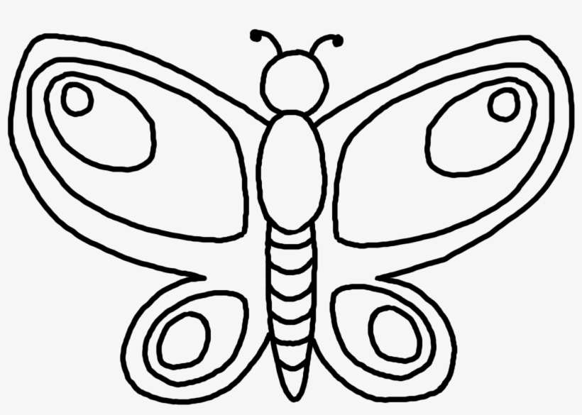 820x585 Png Royalty Free Download Butterfly Drawing Black