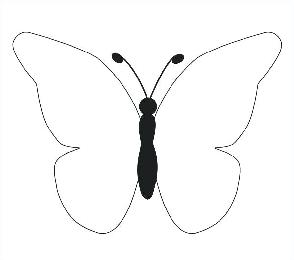 600x530 Simple Butterfly Drawing Butterfly Easy Drawings