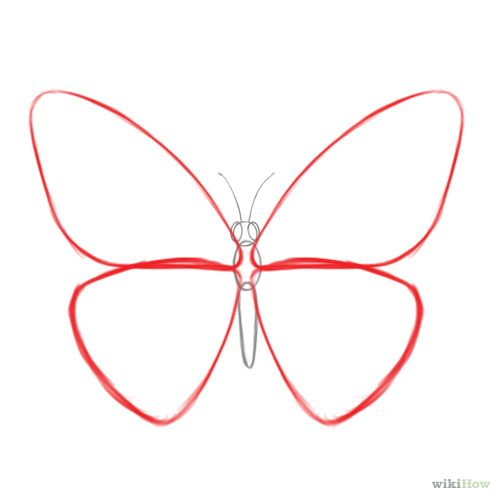 500x500 Draw A Butterfly Art Techniques Easy Drawings, Drawings, Easy