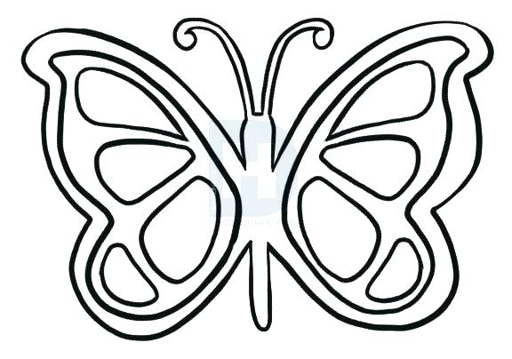 576x404 Easy Drawings Of Butterflies Easy How To Draw Butterflies