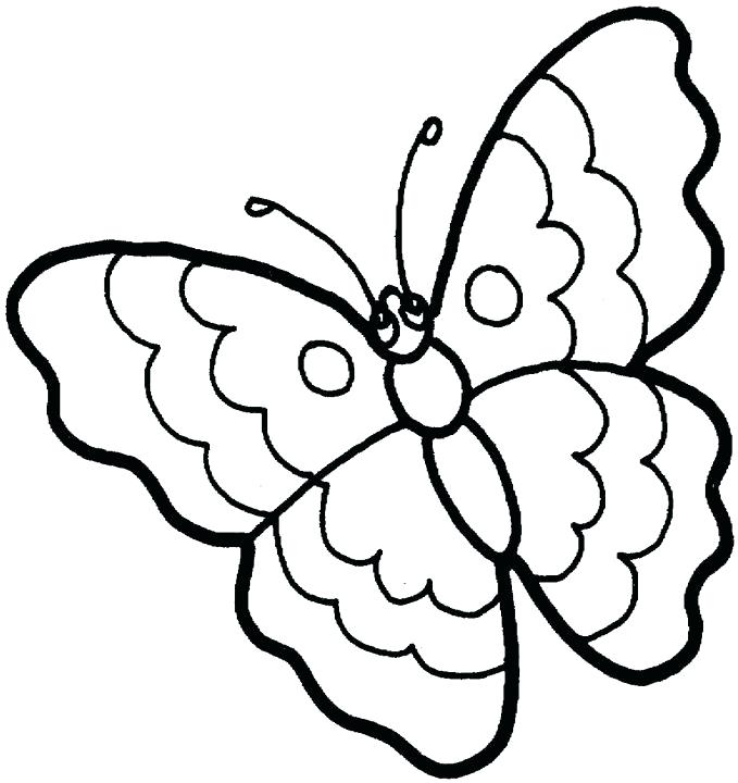 679x720 How To Draw A Butterfly Surprisingly Easy Drawings With Color Lets